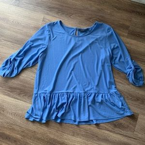 NWT. Apt. 9. Blue Tunic Top